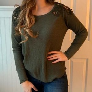 American Eagle Olive Green Top